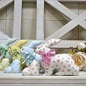 Куклы и игрушки ручной работы. Ярмарка Мастеров - ручная работа Пасхальные кролики в стиле Тильда. Handmade.