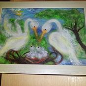 Картины и панно ручной работы. Ярмарка Мастеров - ручная работа Гнездо семейного счастья (часть 2). Handmade.