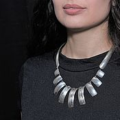 Украшения handmade. Livemaster - original item Minima Series Arc necklace in ASH0016 combination silver. Handmade.