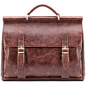 Сумки и аксессуары handmade. Livemaster - original item Leather briefcase Versailles (antique brown). Handmade.