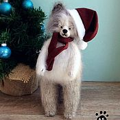 Куклы и игрушки handmade. Livemaster - original item Christmas Dog 25cm knitted interior toy dog. Handmade.