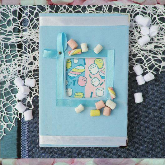 """Блокноты ручной работы. Ярмарка Мастеров - ручная работа. Купить Блокнот """"Маршмеллоу"""". Handmade. Блокнот, сладости из пластики, пластик пэт"""