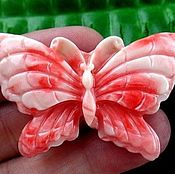 Подвески ручной работы. Ярмарка Мастеров - ручная работа Резная бабочка. Бусина-подвеска 51x33x7mm. Handmade.