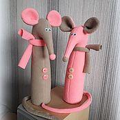 Декор в стиле Тильда ручной работы. Ярмарка Мастеров - ручная работа Мышки Символы Нового 2020 года. Handmade.