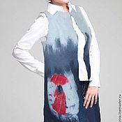 """Одежда ручной работы. Ярмарка Мастеров - ручная работа Валяный жилет """"Под дождем"""". Handmade."""