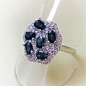 Украшения handmade. Livemaster - original item Ring with natural sapphires