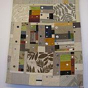 """Картины и панно ручной работы. Ярмарка Мастеров - ручная работа настенное лоскутное панно """"Осенний туман"""". Handmade."""