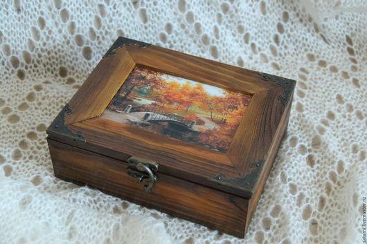 """Шкатулки ручной работы. Ярмарка Мастеров - ручная работа. Купить Шкатулка """"Осень"""". Handmade. Подарок на любой случай, шкатулка деревянная"""