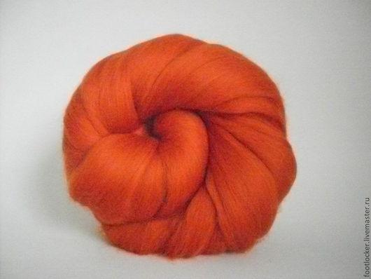 Валяние ручной работы. Ярмарка Мастеров - ручная работа. Купить Шерсть для валяния меринос 18 мкр, Pumpkin, 50 гр. Handmade.