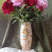 """Для дома и интерьера ручной работы. Ярмарка Мастеров - ручная работа Ваза """"Ангелочек с цветами"""". Handmade."""