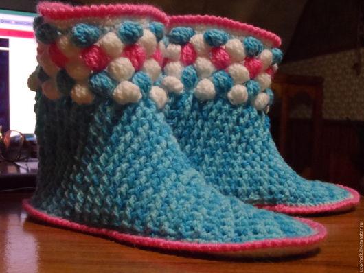 Обувь ручной работы. Ярмарка Мастеров - ручная работа. Купить тапочки-носочки. Handmade. Комбинированный, тапочки для дома