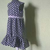 Платья ручной работы. Ярмарка Мастеров - ручная работа Платье с воланом из хлопка. Handmade.