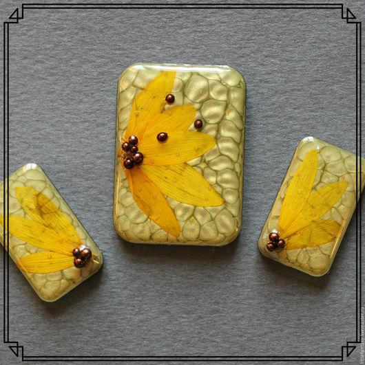 Для украшений ручной работы. Ярмарка Мастеров - ручная работа. Купить Лот 4  Комплект кабошонов ручной работы. Handmade.