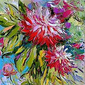 """Картины и панно ручной работы. Ярмарка Мастеров - ручная работа """"Моменты Творчества"""" - картина маслом букет цветов. Handmade."""