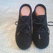 Вязаные ботиночки.