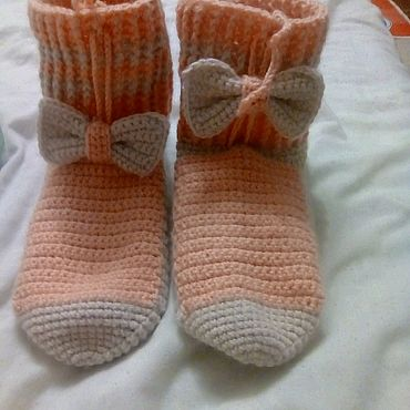 Товары для малышей ручной работы. Ярмарка Мастеров - ручная работа Детские носки крючком. Handmade.