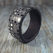 Украшения handmade. Livemaster - original item Bracelet from polymer clay - Black and white movie. Handmade.