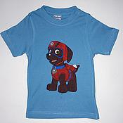 "Одежда handmade. Livemaster - original item T-shirt for kid ""Zuma"", hand-painted. Handmade."