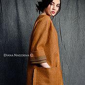 Одежда handmade. Livemaster - original item A coat made from Merino wool and silk. Handmade.