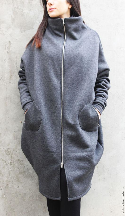 """Верхняя одежда ручной работы. Ярмарка Мастеров - ручная работа. Купить Пальто """"Must Have"""" C0012. Handmade. Длинная толстовка"""