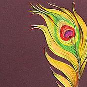 Картины и панно ручной работы. Ярмарка Мастеров - ручная работа Картина пастелью Золотое перо 2. Handmade.