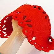 Работы для детей, ручной работы. Ярмарка Мастеров - ручная работа Шапочка для Красной Шапочки детский костюм новогодний карнавальный. Handmade.