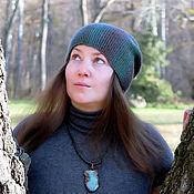 Аксессуары ручной работы. Ярмарка Мастеров - ручная работа Зеленая шапка бини (шерсть 100%). Handmade.