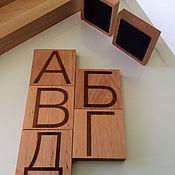 """Мягкие игрушки ручной работы. Ярмарка Мастеров - ручная работа Магнитная деревянная азбука """"Litterawood"""". Handmade."""