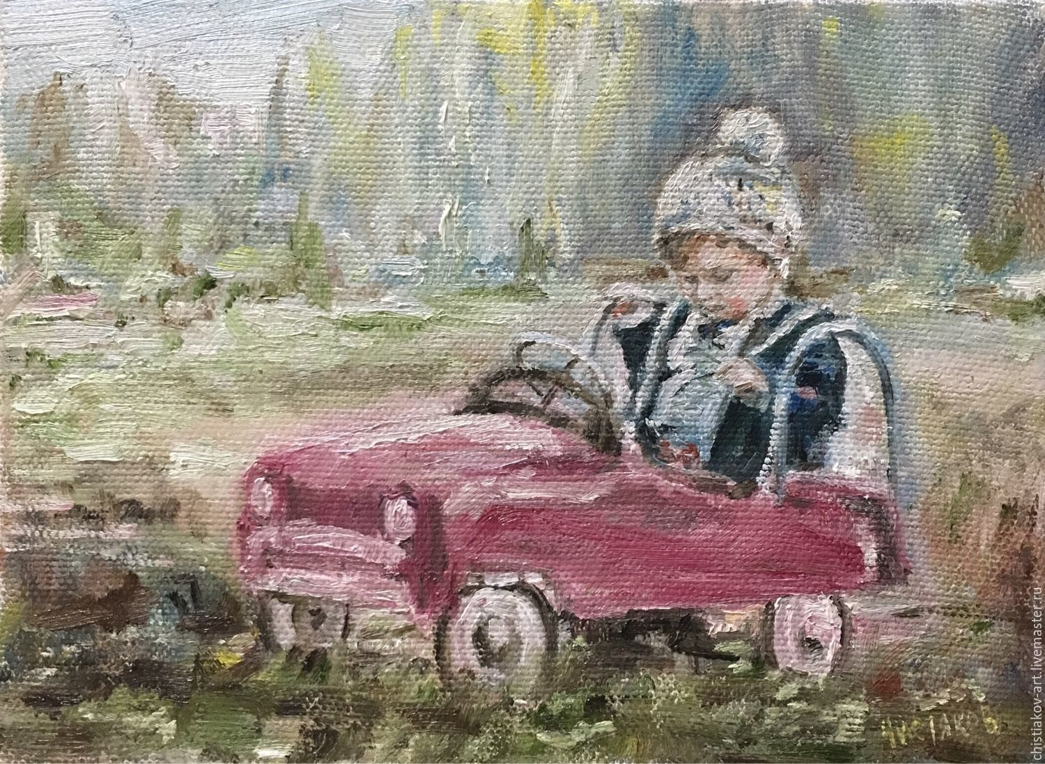 A picture of ` First experience`, the artist Vsevolod Chistyakov to Buy in St. Petersburg