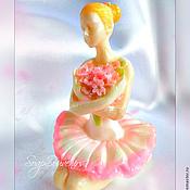 Косметика ручной работы. Ярмарка Мастеров - ручная работа Мыло Балеринка с цветами. Handmade.