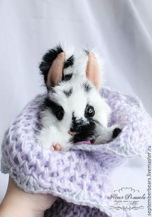 Мишки Тедди ручной работы. Ярмарка Мастеров - ручная работа. Купить крольчонок Мэгги. Handmade. Чёрно-белый, зайка