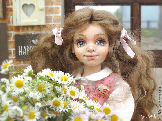 Коллекционные куклы ручной работы. Ярмарка Мастеров - ручная работа. Купить Майя. Handmade. Кремовый, кукла в подарок, Декор, синтепон