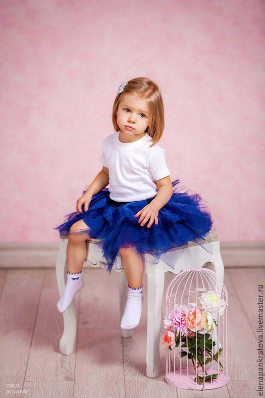 Одежда для девочек, ручной работы. Ярмарка Мастеров - ручная работа. Купить детская юбка. Handmade. Тёмно-синий