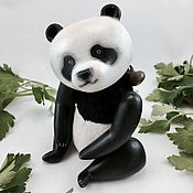Куклы и игрушки ручной работы. Ярмарка Мастеров - ручная работа Деревянная Панда. Handmade.