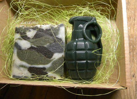 Подарочные наборы косметики ручной работы. Ярмарка Мастеров - ручная работа. Купить МИЛИТАРИ ( камуфляж) , подарочный набор мыла к 23 февраля. Handmade.