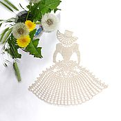 Для дома и интерьера handmade. Livemaster - original item Decorative napkins: The napkin lady. Handmade.