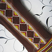 """Одежда ручной работы. Ярмарка Мастеров - ручная работа Платье крючком """"По перуанским мотивам"""". Handmade."""