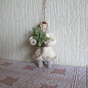 Подарки к праздникам ручной работы. Ярмарка Мастеров - ручная работа Девочка ёлкой. Елочные игрушки из ваты. Handmade.