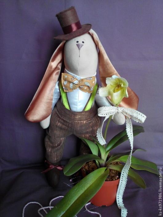 Куклы Тильды ручной работы. Ярмарка Мастеров - ручная работа. Купить Заяц - романтик Тильда. Handmade. Бежевый, тильда, бабочка