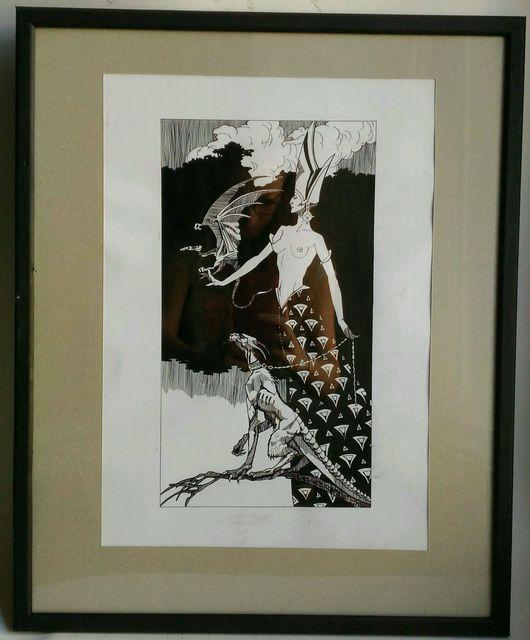 """Ню ручной работы. Ярмарка Мастеров - ручная работа. Купить Картина """"Амазонка 2"""". Handmade. Картина, графика, копия, ню"""