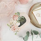 Подушечки ручной работы. Ярмарка Мастеров - ручная работа Шкатулка для колец - Blush wedding. Handmade.