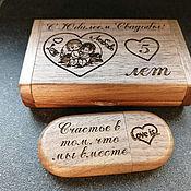 Сувениры и подарки handmade. Livemaster - original item Wooden flash drive with engraving (memory card, souvenir). Handmade.