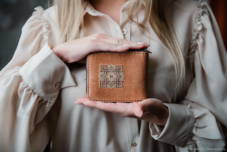 Кожаный кошелек на молнии Koriste, Кошельки, Москва,  Фото №1