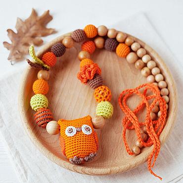 Товары для малышей ручной работы. Ярмарка Мастеров - ручная работа Слингобусы с игрушкой совой осенние цвета. Handmade.