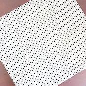 Ткани ручной работы. Ярмарка Мастеров - ручная работа Ткань Горох черный, сатин, 100% хлопок. Handmade.