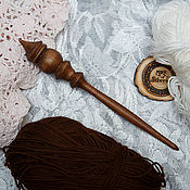Материалы для творчества handmade. Livemaster - original item Spinning spindle 23,5 cm B45. Handmade.