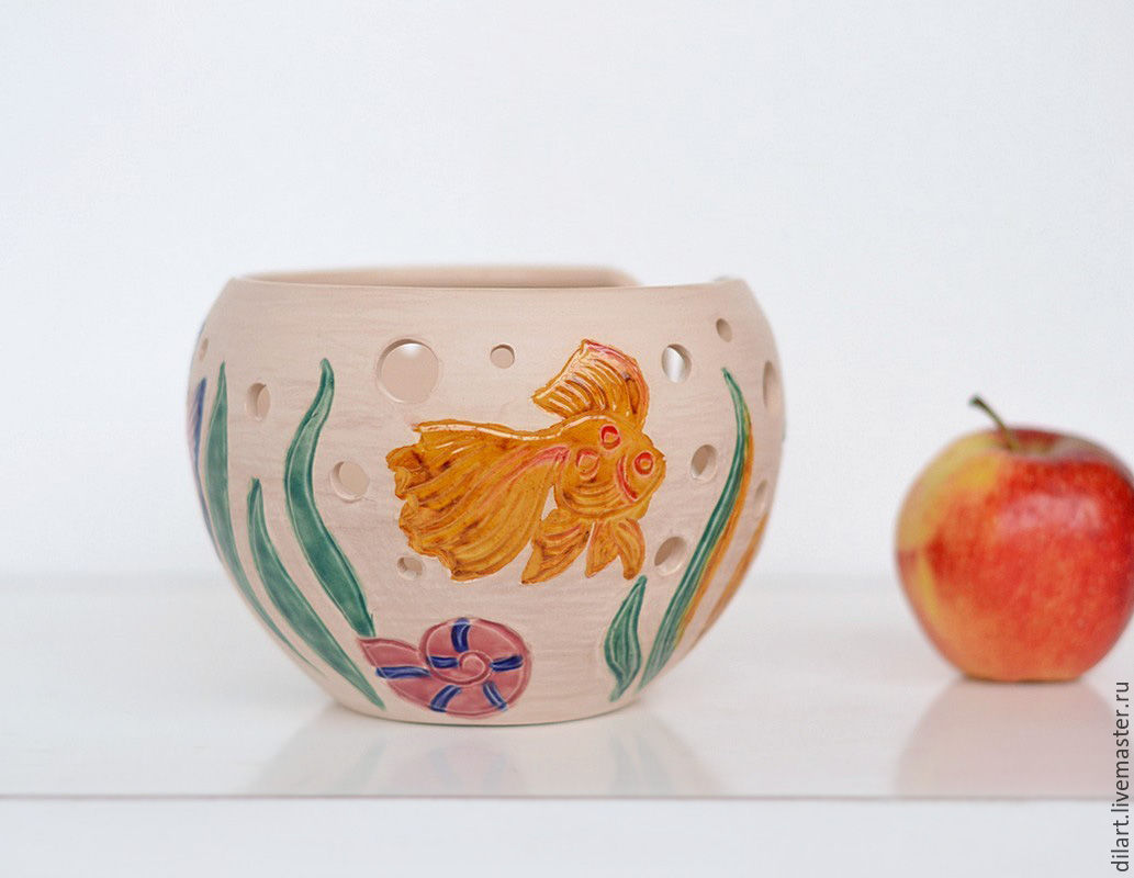 Клубочница керамическая ваза Аквариум