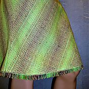 Одежда ручной работы. Ярмарка Мастеров - ручная работа Юбка-четыреклинка из испанского хлока(салатовая). Handmade.
