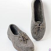 """Обувь ручной работы. Ярмарка Мастеров - ручная работа Туфли женские из войлока """"Джесс"""". Handmade."""