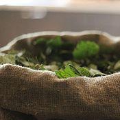 Материалы для творчества handmade. Livemaster - original item Birch pillow, birch leaves 500g in a linen bag. Handmade.